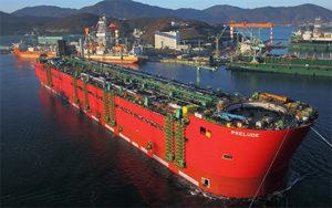 «Шелл» спускает на воду корпус крупнейшего в мире плавучего комплекса.